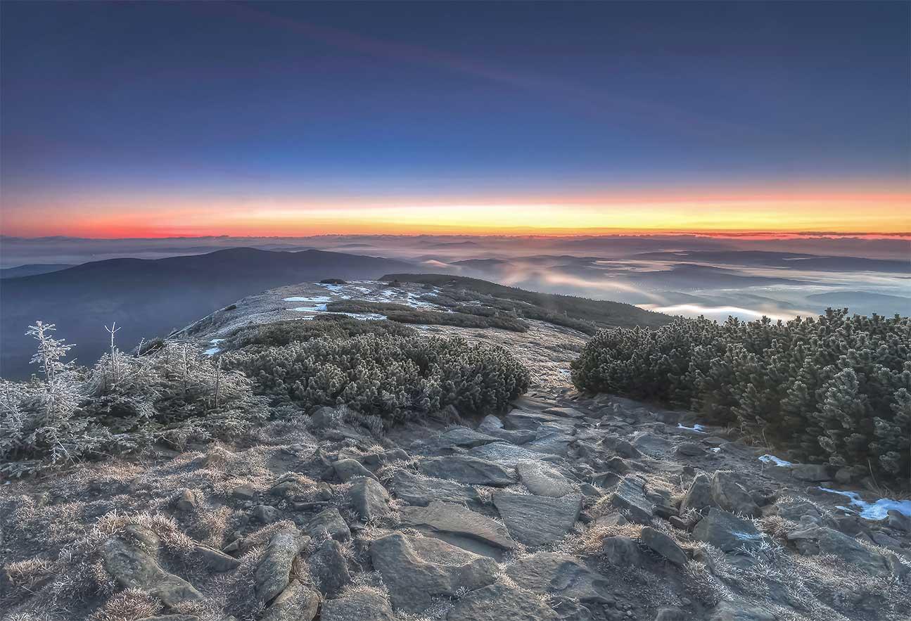 Babia Góra i przymrozek nad ranem