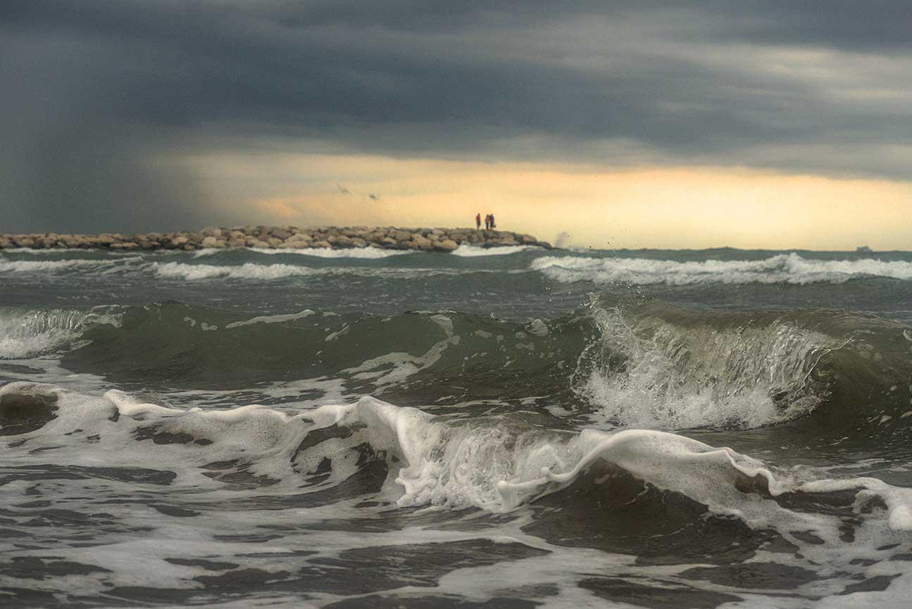 Burzliwy wieczór niedaleko Wenecji_Morze Adriatyckie (Ca' Pasquali) niedaleko Wenecji