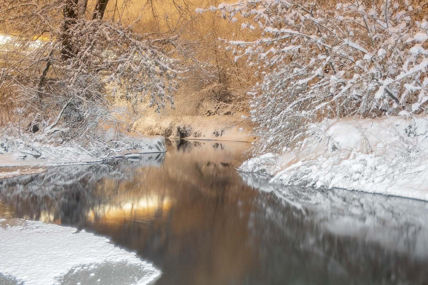Fotoenter art fotografia Rzeka Jeziorka zimowo