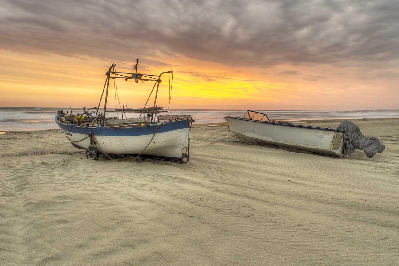 Włochy Morze łódki